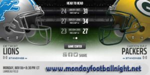 packers vs lions live stream