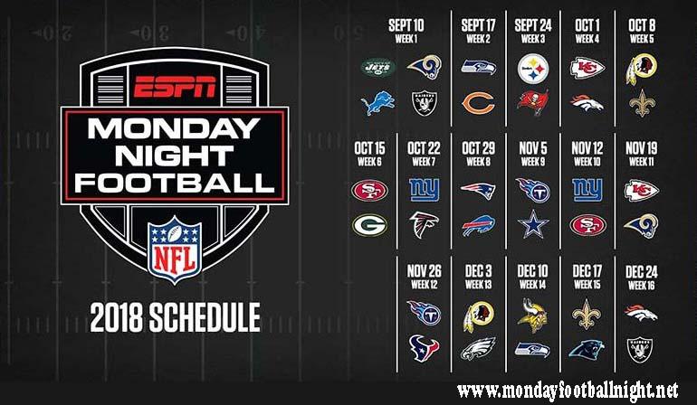 Monday Night Football 2018 Games